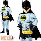 Deluxe Batman Boys Fancy Dress Superhero Comic Book Kids Childrens Costume New