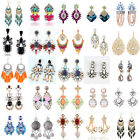 Fashion 1 Pair Elegant Rhinestone Dangle/Ear Stud Earrings Crystal Jewelry Chain