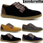 New Mens Faux Suede Casual Formal Lace Up Lambretta Branded Fashion Shoes Size