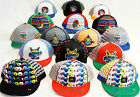 Kids snapback caps, cartoon flat peak boys, girls hats, baseball character