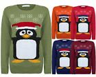 LADIES WOMENS KNITTED WINTER SNOW FLAKES PENGUIN CHRISTMAS XMAS JUMPER S M L XL