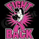 Fight Back Boxing Girl Breast Cancer Awareness T-shirt Women Sizes (1015)