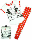 Womens Disney Minnie & Mickey Mouse Hearts Gift Pack Pyjamas Plus Sizes 8 to 22
