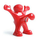 Creative Red Happy Man Wine Beer Bottle Cap Funny Stopper Cork Bar Tool Gift
