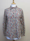JIGSAW SIZE 12 FLORAL DITZY COTTON PLEATED FRONT COTTON SHIRT TOP V72