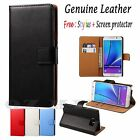 Samsung Galaxy Note 5 Case Cover - Genuine Premium Leather Wallet Cover Case