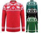 MEN KNITTED FAIRISLE RUDOLPH CHRISTAM JUMPER XMAS NOVELTY SWATER TOP S M L XL