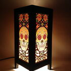 Art Deco Sugar Skull Paper Table Lantern Decorative Handmade Bedside Desk Lamp