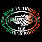 Funny Made In America With Mexican Parts  Women's T-Shirt All Sizes & Colors