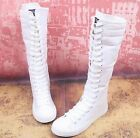 NEW EMO Gothic PUNK Women Rock Boot Girls Shoes Sneaker Knee High Zip Laces Up