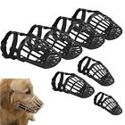 Dog Muzzle PU Leather /Nylon Basket Cage Adjustable Fashion Muzzle Size #1 to 7