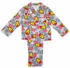 Boys Official Iron Man Wincyette Button up Cotton Pyjamas Grey 3 to 10 Years