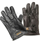 Motorcycle Motorbike Leather Gloves with snap -CLASSIC S - 3XL