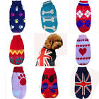 CUTE KNITTED DOG JUMPER PET CLOTHES SWEATER FOR SMALL TO MEDIUM  DOGS 8 STYLES