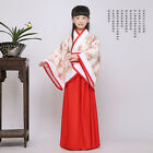 Girls Chinese Tang Suit Hanfu Costume Dress Shenyi Curving-front Garments Cloths