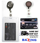 ID Card Holder Name Badge Retractable Reel Strap Lanyard Cord Security Pass Tag