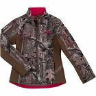 WOMEN'S MOSSY OAK CAMOUFLAGE SOFT SHELL HUNTING CAMP JACKET COAT S M L XL NEW!