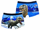 Boys Jurassic World T-Rex Underpants Trunk Fit Boxer Shorts Blue 4 to 10 Years