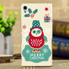 Merry Christmas Painted Pattern Soft TPU Case Cover For Sony Xperia E4 3 2 1 E4G