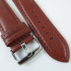 HQ BROWN BLACK STITCH LAMBSKIN LEATHER STRAP 22 MM BAND FOR LG Urbane WATCH