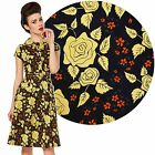Voodoo Vixen Dolly P Dress 50's Vintage Rockabilly Pin Up Retro Office Floral