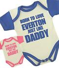 BabyPrem Baby Clothes Born Love Everton Slogan Fun Boys Girl Bodysuit One-piece