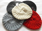 LADIES WINTER GLITTER FLECK KNITTED BERET HAT ONE SIZE 6 COLOURS