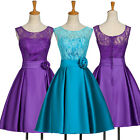 Short Lace Evening Party Formal Bridesmaid TEENS Prom Dress Wedding COCKTAIL NEW