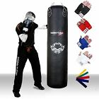 TurnerMAX Leather Punch Bag Punching bag boxing bag Heavy Bag Workout Pro Black