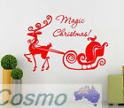 Merry Christmas Xmas Wall Stickers Removable PVC Display Window Showcase Decor