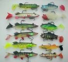 Bass Pike Perch & Pollack soft plastic swim bait lures - Multi listing