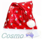 Adult Unisex Kid Children Xmas Hat Red Cotten Cap Christmas Party Santa Novelty