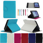 "For 7"" 10.1"" Tablet PC 360° Rotating Universal Leather Stand Case Cover + Stylus"