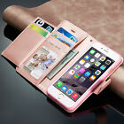 New Luxury Magnetic Flip Cover Stand Wallet Leather Case For Apple iPhone Models