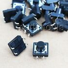 50PC 12 x 12 x 4.3 ~ 15mm Tactile Push Button Momentary Switch 4 pin Select size