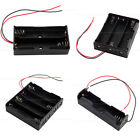 1pcs Black Plastic Battery Holder Storage Box Case for 18650 With Wire Lead New