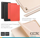 For iPad Pro HOCO Dual Layer Nano PU Leather Smart Cover + Silicone Backshell