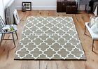 Arabesque Beige Hand Tufted Wool and Viscose Rug in various sizes and runner