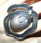 Cocktail Ring Metal Ribbon & Flower Design w Chunky Pearl Bead New One Size Fits
