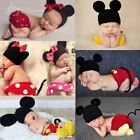 Внешний вид - Mickey Minnie Handmade Newborn Baby Girl Boy Crochet Knit Costume Photo Prop USA