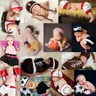 Sport Baby Handmade Newborn Girl Boy Crochet Knit Outfit Hat Costume Photo Prop