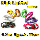 High Light Micro USB Charger Cable for Samsung Galaxy S5 S4 i9500 Note 4 3 2 HTC