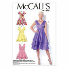 McCalls 7316 Asymmetrical Tiered Ra Ra Party V-neck Dress Sewing Pattern M7316