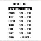Opening Hours Times Custom Shop Window Sign Style 05 Wall Vinyl Small Sticker