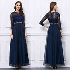 New lace chiffon Long sleeve formal gowns evening party Prom  bridesmaids Dress
