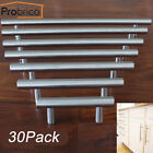 Probrico 30Pack Brushed Stain Kitchen Cabinet Handle Knob Door Drawer Pull+Screw