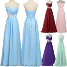CHEAP Sky Blue+Chiffon Bridesmaid Formal Party Wedding Evening Prom Long Dresses