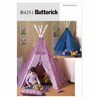 Butterick 4251 SEWING PATTERN Kids Wigwam Teepee Tent Wendy House B4251