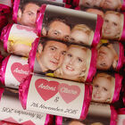 100 PERSONALISED PHOTO LOVE HEART SWEETS WEDDING ANNIVERSARY ENGAGEMENT FAVOURS