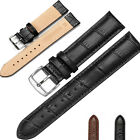 Real Genuine Leather Watchband Watch Bands Straps 12mm-24mm Womens Mens Buckle